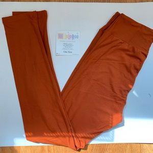 NWT OS burnt orange leggings - LuLaRoe